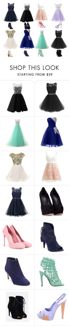 """Prom Queen Nominees"" by oliviaboston ❤ liked on Polyvore featuring Laona, Giuseppe Zanotti, Miu Miu, Vince Camuto, Via Spiga, JustFab and Sergio Rossi"