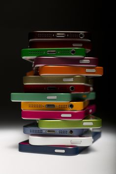 A colorful #iPhone5 tower...