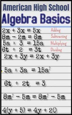 Online High School for Sale. High School Algebra, Math Tutorials, Online High School, Math Charts, Algebra Worksheets, Gcse Math, Maths Solutions, Math Formulas, Life Hacks For School