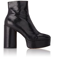 Marc Jacobs Women's Amber Platform Ankle Boots (10,240 MXN) ❤ liked on Polyvore featuring shoes, boots, ankle booties, ankle boots, black, chunky heel booties, black high heel booties, black boots and high heel booties