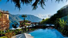 Grand Hotel Tremezzo, Lake Como, Italy: This art nouveau former palace abutting the legendary glacial lake now co-owned by Italy and George Clooney has a swimming pool...in the glacial lake