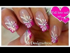 Floral Pink Nail Art | Spring-Summer Nails + TUTORIAL #pinkmani #nailart - bellashoot.com