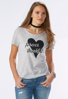 44b72ff178192 Cato Fashions Forever Thankful Graphic Tee  CatoFashions Fashion Forever