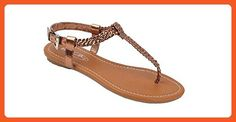 New Starbay Women's Classic Bronze Gladiator Sandals Flats Size 8 - Sandals for women (*Amazon Partner-Link)