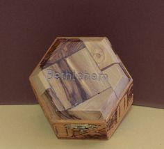 50% OFF-ONLY $6.47!  Available on Ebay  HERE --- >>>> http://ebay.to/2l8OMsq    #HandCarved 🔪#Olive #Wood #Hexagon #Christian ✝️ #Holy #Land #Bethlehem ✡️ #Trinket #Box 📦#Ebay #BIN
