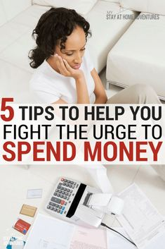 How do I stop the urge to spend money? How do I reduce my overspending? We have 5 tips to help you reduce the urge to spend money that you can start today. Ways To Save Money, Money Tips, Money Saving Tips, How To Make Money, Frugal Living Tips, Frugal Tips, Saving Money Calculator, Savings Planner, Budgeting Money