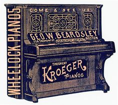 George W. Beardsley / Wheelock Pianos / Kroeger Pianos | Sheaff : ephemera