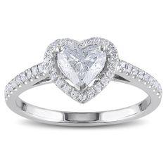 <li>One carat heart and round-cut diamond ring</li><li>14-karat white gold jewelry</li><li><a href='http://www.overstock.com/downloads/pdf/2010_RingSizing.pdf'><span class='links'>Click here for ring sizing guide</span></a></li>