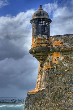 As a designer, you have to pull inspiration from everything, everywhere, all of the time. El Morro's Garita, San Juan, Puerto Rico.