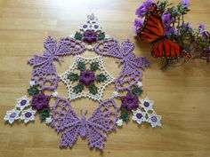 Mainly Crochet > Home My Butterfly Dance Doily just released on Mainly Crochet.