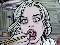 iZombie opening titles by Michael Allred