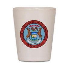 Michigan State Seal Shot Glass for