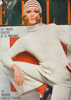 1960s Knitted Pant Suit