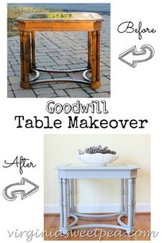 Goodwill Table Makeover by virginiasweetpea.com