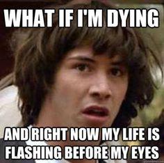 Keanu's Zen Moment.