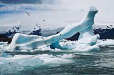 Eindrucksvolle Eislandschaften