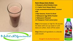 Why settle for a boring breakfast when you can enjoy a healthy alternative that tastes great too?! Start your morning with this simple, delicious and nutritious date shake. You'll love the smooth texture, rich flavor and added antioxidant benefits from Nutri Maqui superfruit juice. So, blend up some health today!