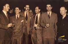 Reception and Presentation of the Portrait of Col. Gordon, 1951. Attendees at the Presentation of the Portrait – Left to right: Douglas Snedden, Paul Boddy, Kerr Gibson, M Cameron, Archie Turner, and Rodney Heard. #EYCan150