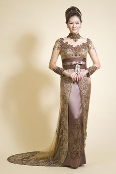 Indonesian lace dress