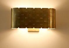Pair of Rewire Custom Perforated Sconces  6.5 h x 13 x 5.5d