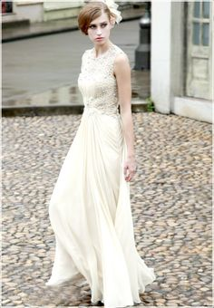 Yellow Embroidery Beaded Slim Bridesmaid Prom Ball Long Evening Dress