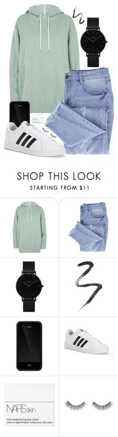 """#44"" by oneandonlyfashion ❤ liked on Polyvore featuring River Island, Essie, CLUSE, Topshop, Incase, adidas, NARS Cosmetics and Napoleon Perdis"