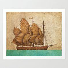 Winged Odyssey Art Print by Terry Fan - $18.00