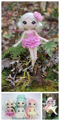 Amigurumi Ballerina Doll Free Pattern Crochet Doll Pattern, Crochet Patterns Amigurumi, Crochet Blanket Patterns, Amigurumi Doll, Crochet Stitches, Knitted Dolls, Crochet Dolls, Crocheted Toys, Ballerina Doll
