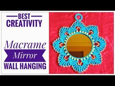 New Macrame Mirror Wall Hanging tutorial Macrame Mirror, Macrame Art, Macrame Wall Hanging Patterns, Macrame Patterns, Creative, Etsy, Wall Hangings, Youtube, Design
