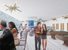 "Eun Sun Kim, BFA Thesis - ""Cazino"" in an entertainment venue with a club, casino, bar, and lounge."