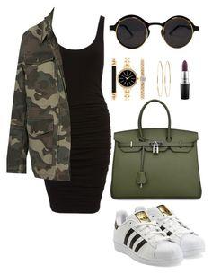 """""""Untitled #415"""" by amoney-1 ❤ liked on Polyvore featuring Topshop, adidas Originals, MAC Cosmetics, Style & Co. and Jennifer Meyer Jewelry"""