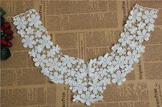 Guipure lace collar cotton lace collar crochet lace by LaceNTrim