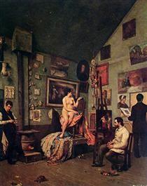 Ateliê em Paris - Almeida Júnior