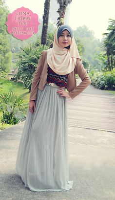 sweet like marshmallow: TOPS ❤ hijab style
