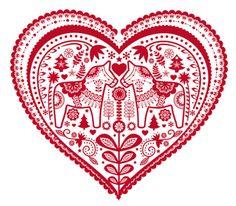 tinywhitedaisies dala horse heart