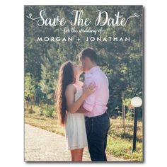 Vertical Save The Date Postcard Template, Whimsical Save The Date Postcard, Engagement Pictures