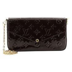 Louis Vuitton Felicie, Brown Interior, Item Number, Exterior Colors, Colorful Interiors, Patent Leather, Purses And Bags, Zip Around Wallet, Monogram