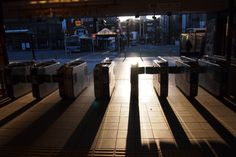 The station gate in early morning #Japan #station #Kamakura