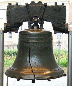 "The Liberty Bell, Philadelphia, Pennsylvania    ""PROCLAIM LIBERTY THROUGHOUT ALL THE LAND   UNTO ALL THE INHABITANTS THEREOF LEV. XXV X. BY ORDER OF THE ASSEMBLY OF THE PROVINCE OF PENSYLVANIA FOR THE STATE HOUSE IN PHILADA  PASS AND STOW  PHILADA  MDCCLIII"""