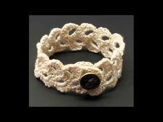 Браслет своими руками. Как связать браслет крючком.how to knit crochet bracelet - YouTube