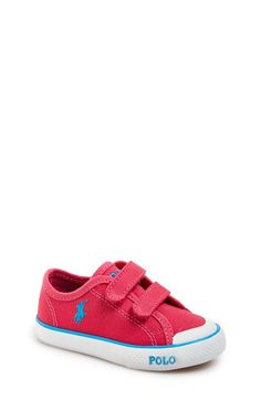 Ralph Lauren 'Carlisle' Canvas Sneaker (Baby, Walker & Toddler) available at #Nordstrom