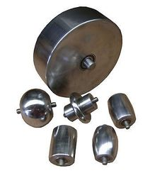 WNS English Wheeling Machine Wheels Anvils Dies Set Restoration