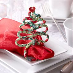 Craft Wire and Fabric Trees