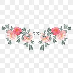 Painted Flowers, Flowers, Painted, Painted Flowers PNG Transparent Clipart Image and PSD. Watercolor And Ink, Watercolor Flowers, Flower Png Images, Vector Flowers, Mickey Mouse Images, Flower Tea, Panel Art, Wedding Frames, Arte Floral