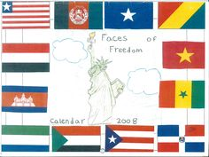Faces of Freedom Calendar | Expeditionary Learning/grade 3