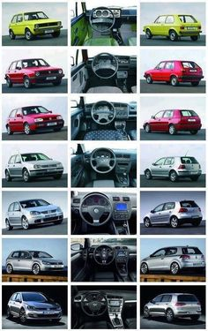 Rabbits thru the years! Awww, I had a mk1 and now I have a mk3 - both white rabbits. Except now they call it a golf! boo!