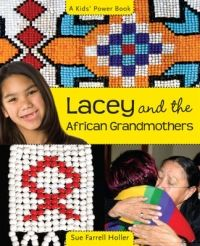 2009. Twelve-year-old Lacey Little Bird loves spending time with Oma patake, an elder on her reserve who is like a grandmother to her. From her she is learning about the traditions of her people, the Siksika, including the art of beadwork. Lacey hears about a project to help grandmothers a world away in Africa who are raising their grandkids because the children's parents have died of AIDS. She decides to put her new skills to work and make beaded purses to raise money to help.