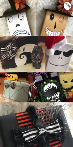 Nightmare Before Christmas wrapping paper - Real Time - Diet, Exercise, Fitness, Finance You for Healthy articles ideas Disney Christmas, Halloween Christmas, Christmas Paper, Christmas Themes, Christmas Crafts, Happy Halloween, Diy Halloween Decorations, Halloween Crafts, Halloween Prop