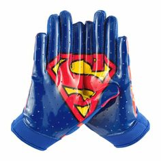 Under Armour Youth Alter Ego Superman Football Receiver Gloves - Brand new Superman gloves! Football Receiver Gloves, Football Gear, Youth Football, Flag Football, Football Gloves, Football Stuff, Alter Ego, Softball, Superman