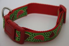 "Summer Watermelon 1"" Dog Collar. $15.00. Find Bonzai Gifts on Facebook for more!"